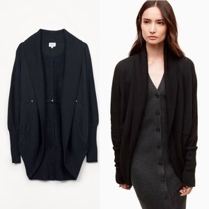 Aritzia Wilfred Diderot Sweater Cardigan Black XS
